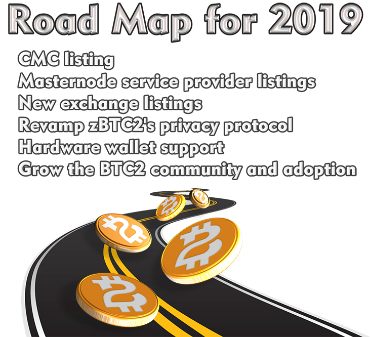 Bitcoin 2 Road Map for 2019: CMC-listing, revamped privacy protocol, hardware wallet support...